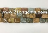 COS253 15.5 inches 13*18mm rectangle ocean stone beads wholesale