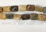 COS254 15.5 inches 15*20mm rectangle ocean stone beads wholesale