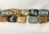 COS255 15.5 inches 18*25mm rectangle ocean stone beads wholesale