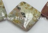 COS27 15.5 inches 30*30mm diamond ocean stone beads wholesale