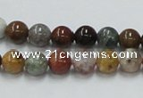 COS39 15.5 inches 8mm round ocean stone beads wholesale