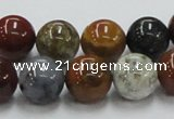 COS41 15.5 inches 12mm round ocean stone beads wholesale