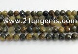 CPB1077 15.5 inches 8mm faceted round natural pietersite beads