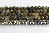CPB1078 15.5 inches 10mm faceted round natural pietersite beads