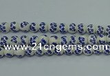 CPB504 15.5 inches 12mm round Painted porcelain beads