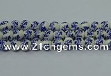 CPB512 15.5 inches 8mm round Painted porcelain beads