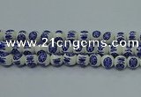 CPB531 15.5 inches 6mm round Painted porcelain beads