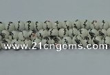 CPB553 15.5 inches 10mm round Painted porcelain beads
