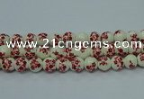 CPB612 15.5 inches 8mm round Painted porcelain beads