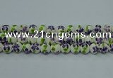 CPB624 15.5 inches 12mm round Painted porcelain beads