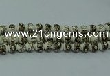 CPB715 15.5 inches 14mm round Painted porcelain beads