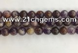 CPC663 15.5 inches 12mm round purple phantom quartz beads