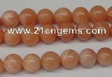 CPE03 15.5 inches 8mm round peach stone beads wholesale