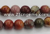 CPJ103 15.5 inches 10mm round picasso jasper gemstone beads wholesale