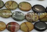 CPJ165 15.5 inches 12*16mm oval picasso jasper gemstone beads