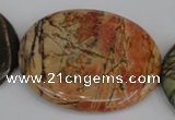 CPJ359 15.5 inches 40*50mm oval picasso jasper gemstone beads