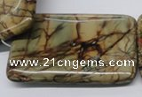 CPJ36 15.5 inches 40*60mm rectangle picasso jasper beads wholesale