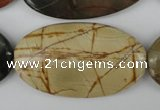 CPJ408 15 inches 25*45mm oval picasso jasper gemstone beads