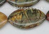 CPJ412 15 inches 25*40mm marquise picasso jasper gemstone beads