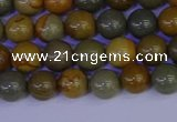 CPJ451 15.5 inches 6mm round wildhorse picture jasper beads