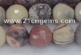 CPJ614 15.5 inches 12mm faceted round purple striped jasper beads