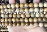 CPJ661 15.5 inches 10mm round picture jasper beads wholesale