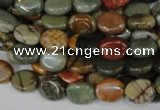CPJ82 15.5 inches 8*10mm oval picasso jasper gemstone beads