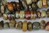 CPJ94 15.5 inches 5*11mm nuggets picasso jasper gemstone beads