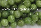 CPO03 15.5 inches 10mm round olivine gemstone beads wholesale