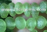 CPO120 15.5 inches 3*6mm nuggets matte peridot gemstone beads