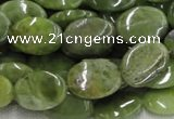 CPO14 15.5 inches 13*18mm oval olivine gemstone beads wholesale