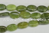 CPO33 15.5 inches 8*12mm oval olivine gemstone beads wholesale