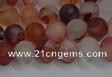 CPQ301 15.5 inches 6mm round matte pink quartz beads wholesale