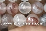 CPQ312 15.5 inches 8mm faceted round pink quartz beads wholesale