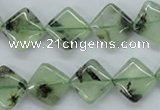 CPR238 15.5 inches 12*12mm diamond natural prehnite beads wholesale