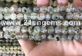 CPR352 15.5 inches 8mm faceted round prehnite beads wholesale