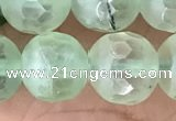 CPR368 15.5 inches 12mm faceted round prehnite gemstone beads