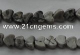 CPT184 15.5 inches 4*4mm heart grey picture jasper beads wholesale
