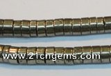 CPY116 15.5 inches 4*8mm heishi pyrite gemstone beads wholesale