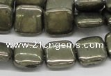 CPY21 16 inches 10*10mm square pyrite gemstone beads wholesale