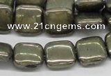 CPY22 16 inches 12*12mm square pyrite gemstone beads wholesale