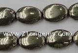 CPY234 15.5 inches 13*18mm oval pyrite gemstone beads wholesale