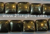 CPY318 15.5 inches 14*14mm square pyrite gemstone beads wholesale