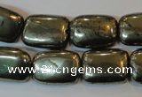 CPY323 15.5 inches 13*18mm rectangle pyrite gemstone beads wholesale