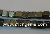 CPY350 15.5 inches 4*4mm cube pyrite gemstone beads wholesale