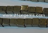 CPY352 15.5 inches 8*8mm cube pyrite gemstone beads wholesale
