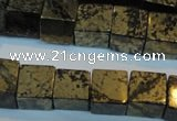 CPY354 15.5 inches 12*12mm cube pyrite gemstone beads wholesale