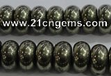 CPY424 15.5 inches 6*10mm rondelle pyrite gemstone beads