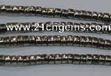 CPY606 15.5 inches 2*3mm heishi pyrite gemstone beads