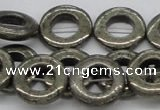 CPY61 15.5 inches 23mm donut pyrite gemstone beads wholesale